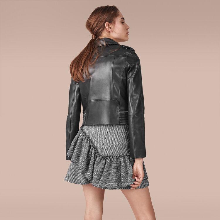 Leather jacket - Coats & Jackets - MAJE