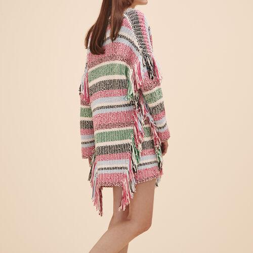 Multi-coloured knit cardigan - Sweaters - MAJE