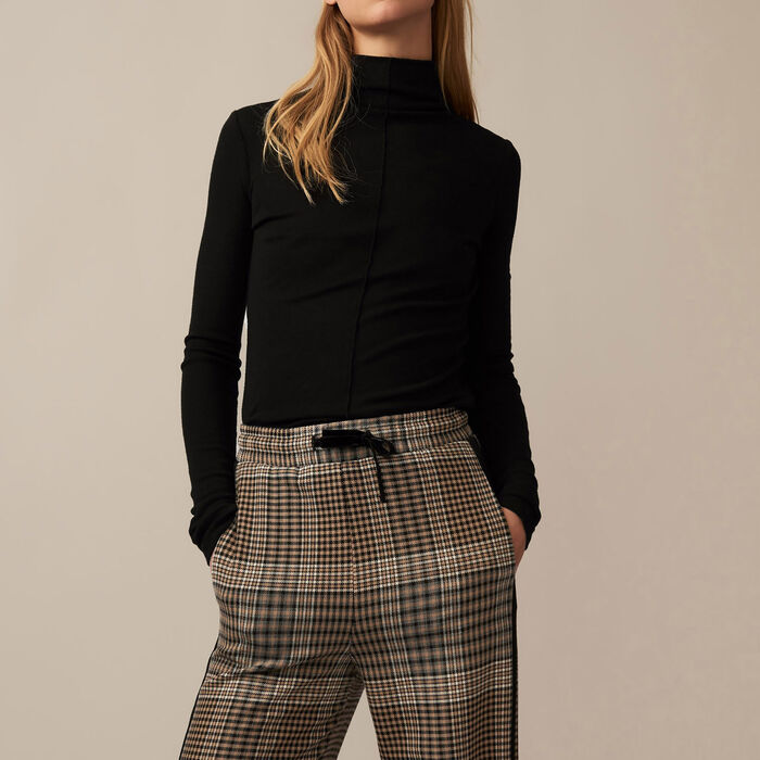 Checked jogging bottoms - Pants & Jeans - MAJE