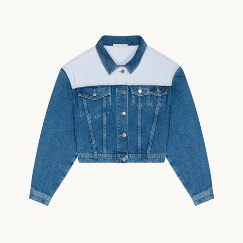 Two-tone denim jacket - Coats & Jackets - MAJE