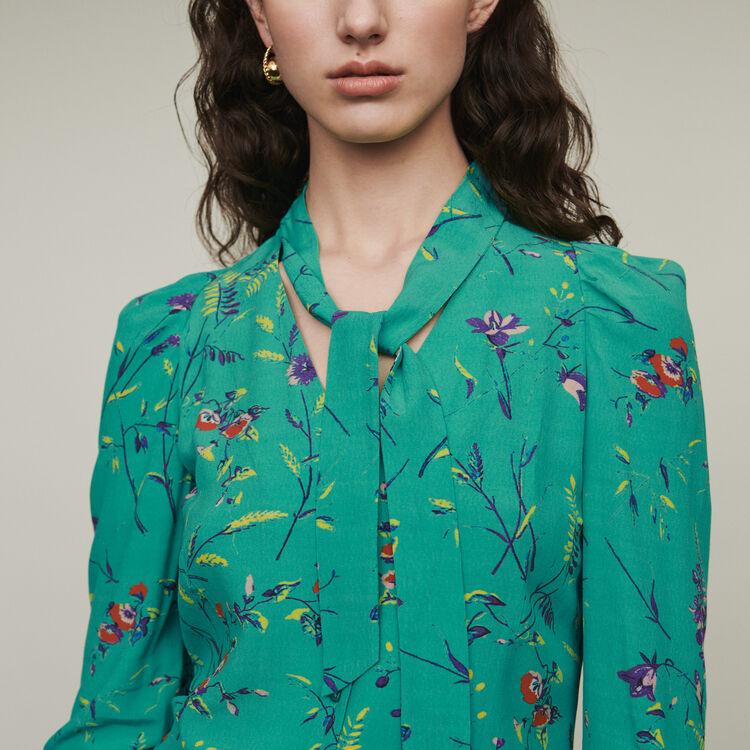 마쥬 COSINA 프린티드 블라우스 MAJE COSINA Printed blouse with lavaliere,Printed
