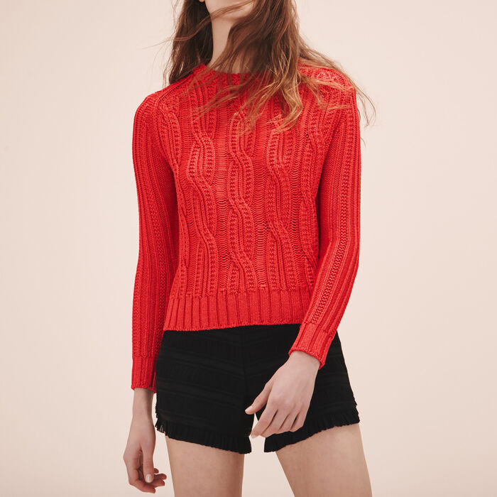 Ribbed knit jumper -  - MAJE