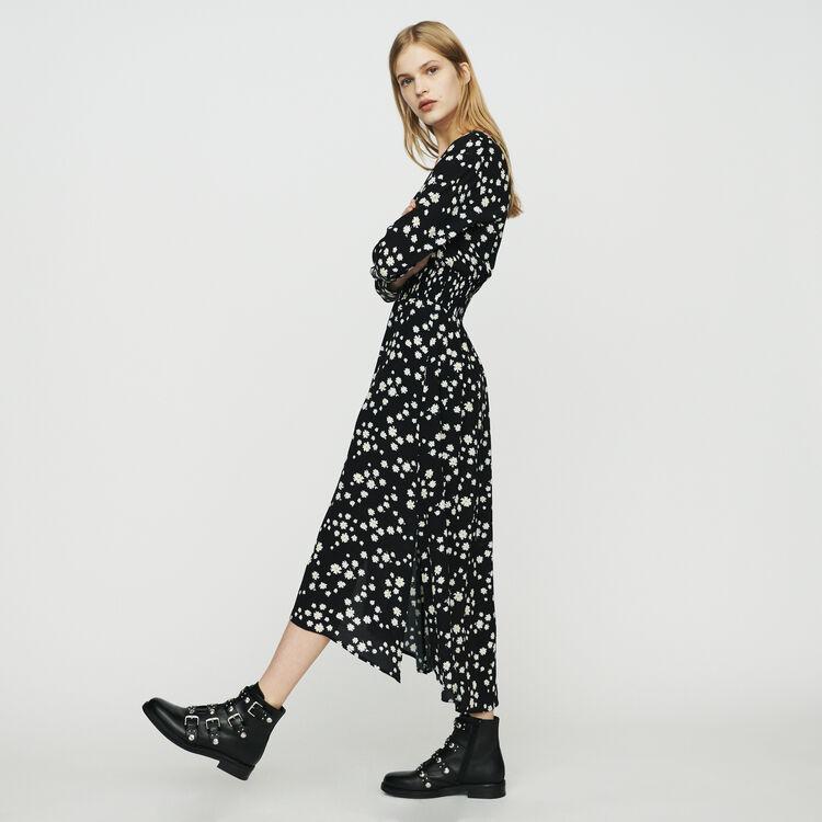 마쥬 ROSILA 데이지 프린트 롱 원피스 MAJE Long dress with daisy print,PRINTED