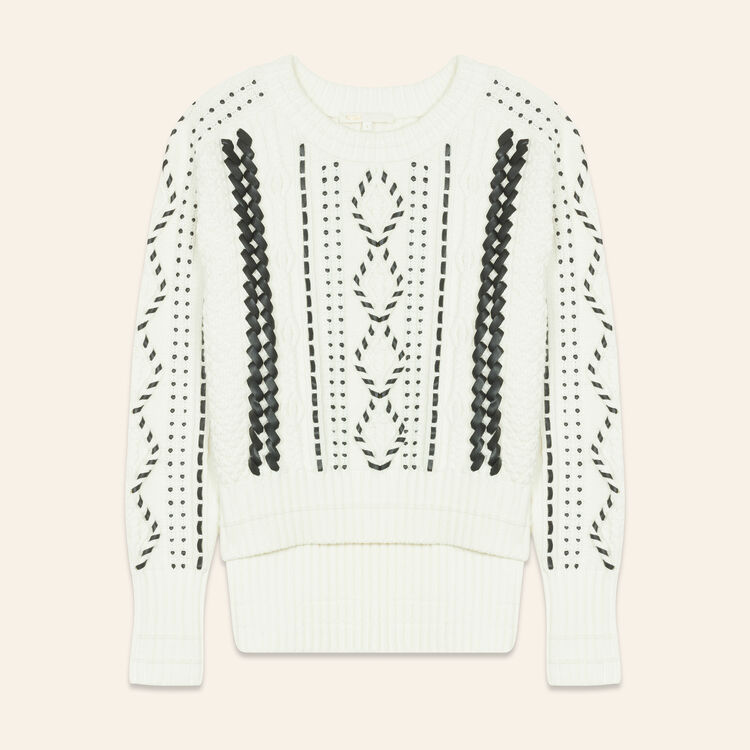 Cable knit jumper - Sweaters - MAJE