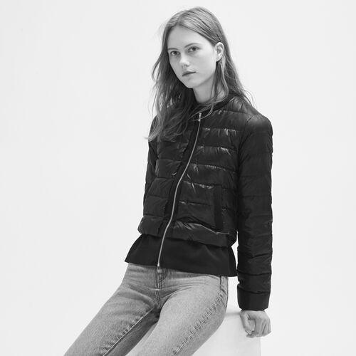 Lightweight down jacket with peplum - Coats & Jackets - MAJE