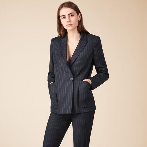 Striped blazer - Coats & Jackets - MAJE