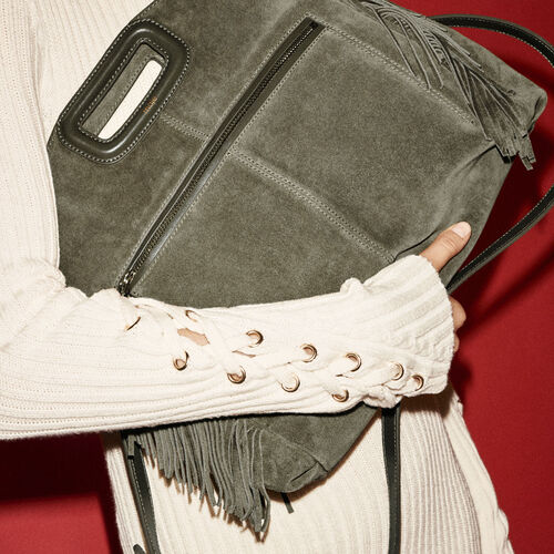 Suede shoulder bag - All bags - MAJE