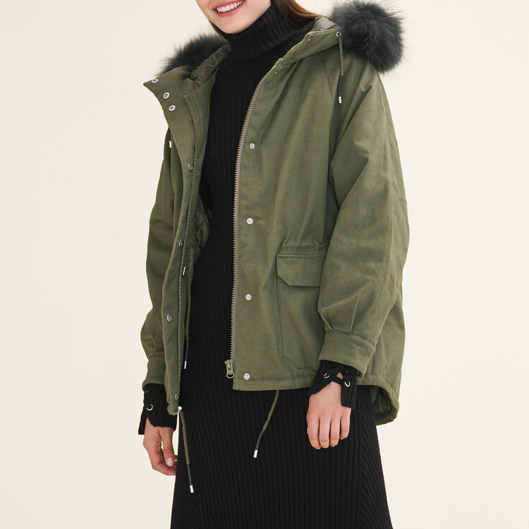 Parka with fur hood : null color