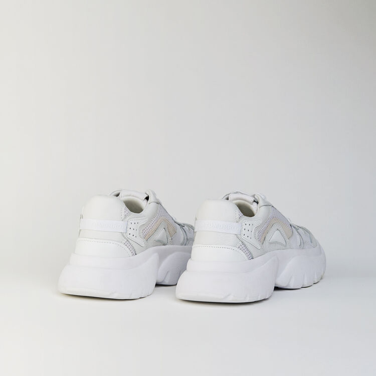 W20 URBAN LEATHER SNEAKERS : Shoes color White
