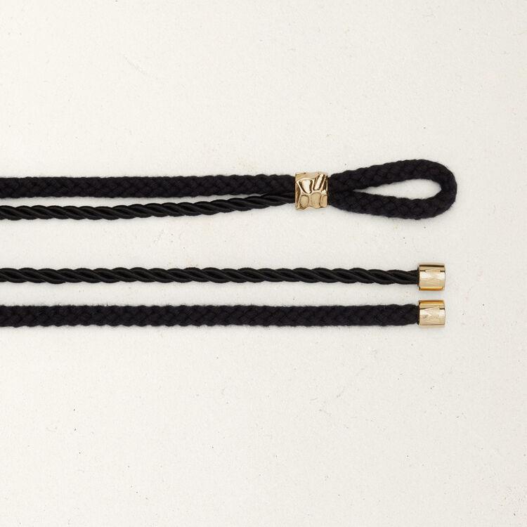 Rope belt with hammered studs : Belts color Black 210