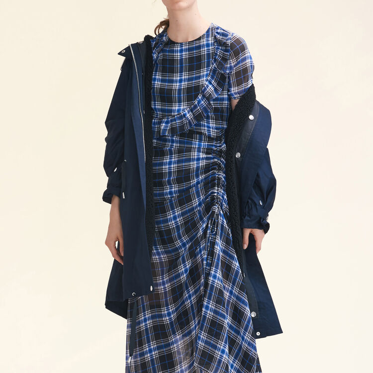 Long checked dress : Dresses color PRINTED