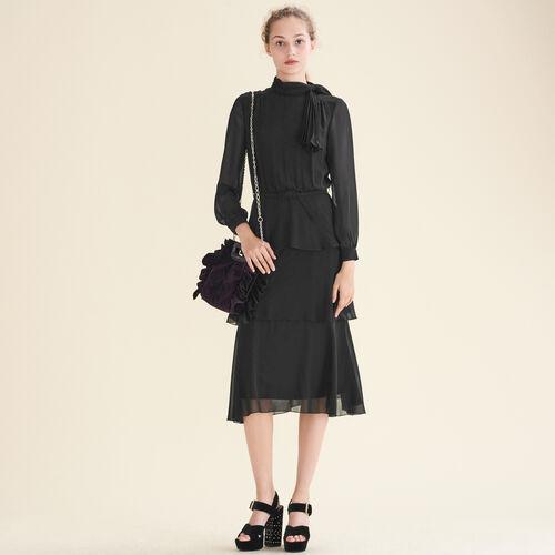 Flowing frilled dress : Winter Sale color Black 210