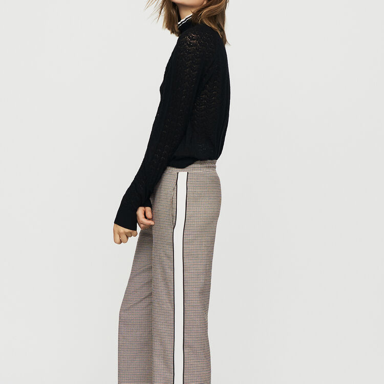 Elastic waist plaid pants : Pants & Jeans color CARREAUX