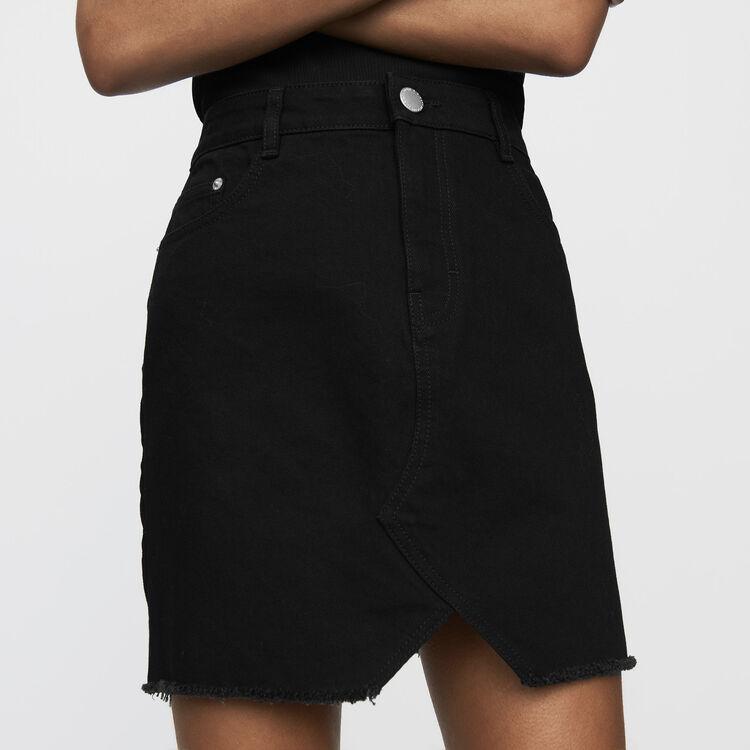Short denim skirt : Skirts & Shorts color Black 210