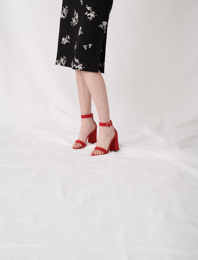 Crocodile-effect calfskin loafers - Shoes - MAJE