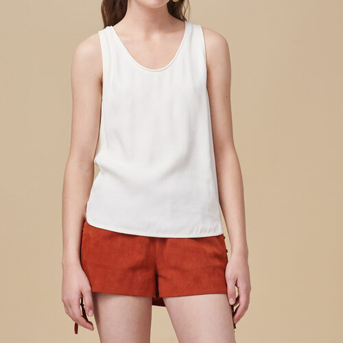 Crêpe vest : Tops & T-Shirts color Ecru