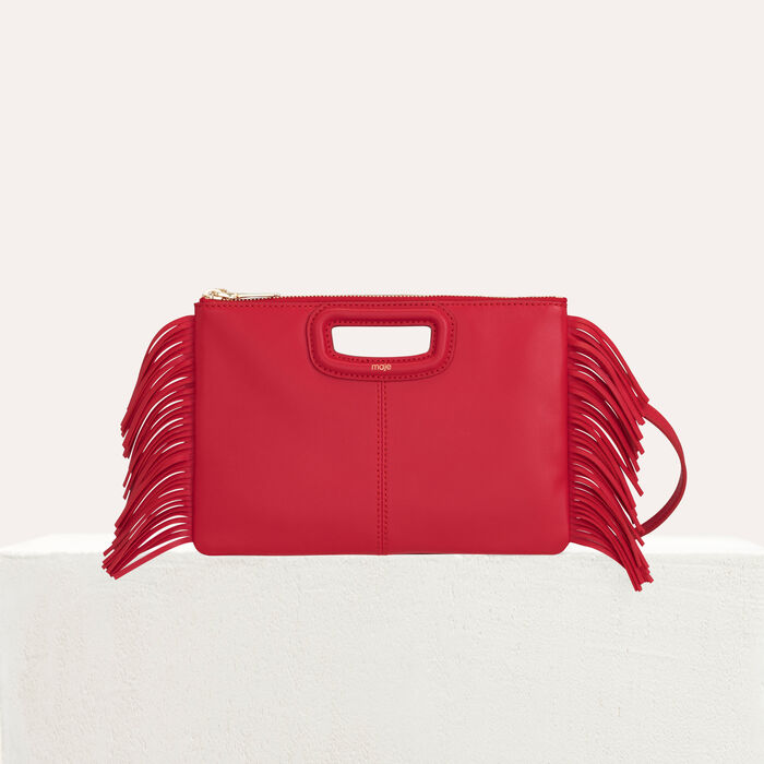 M Duo purse in leather : The Essentials color Red