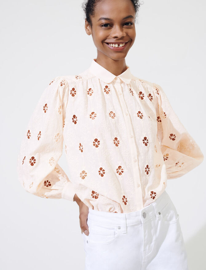 Broderie anglaise shirt - Tops & T-Shirts - MAJE