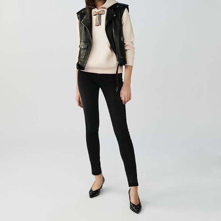 Sleeveless leather vest : Coats & Jackets color Black 210