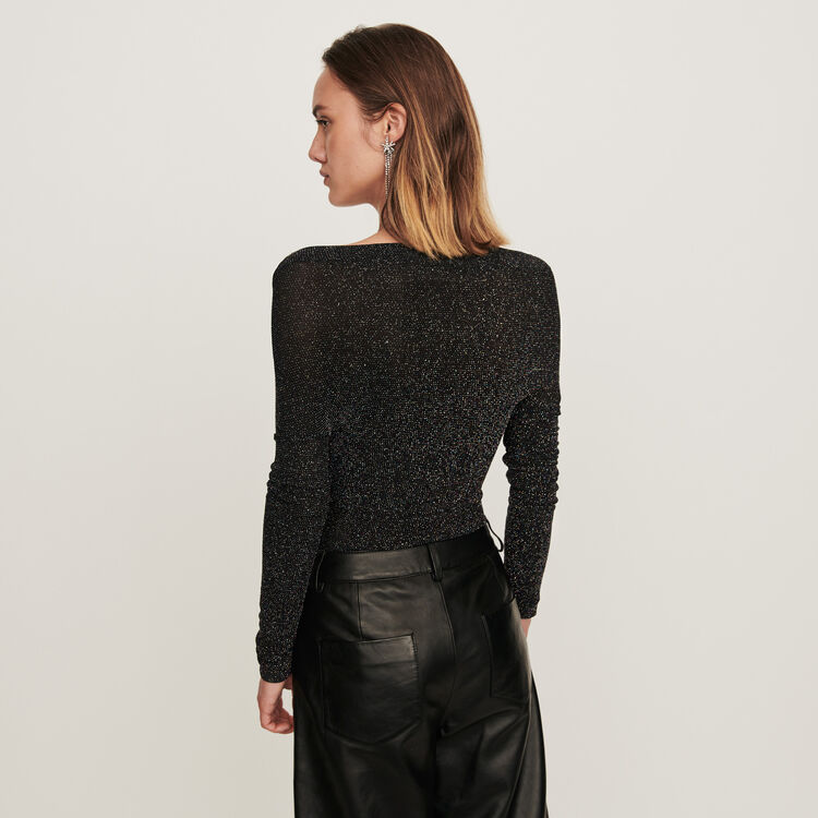 Lurex jersey long-sleeved bodysuit : Tops & T-Shirts color Multico