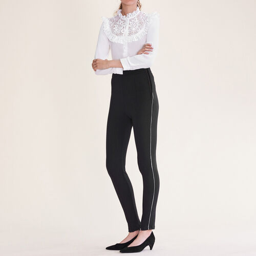 Leggings with several zips : Pants & Jeans color Black 210