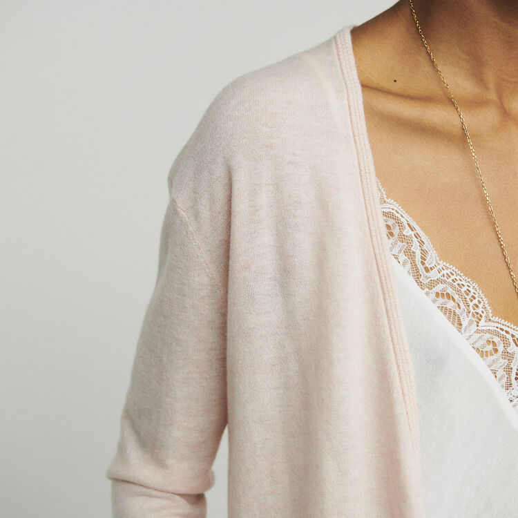 Cashmere cardigan : Sweaters color NUDE