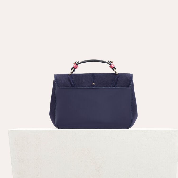 Mini satchel in two-tone suede : All bags color Navy