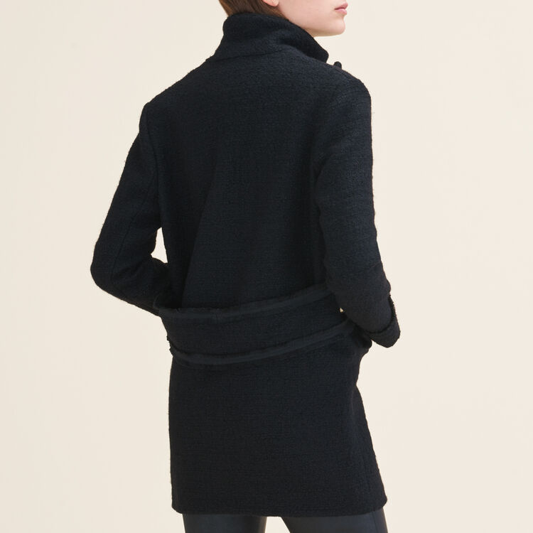 Mid-length tweed jacket : null color