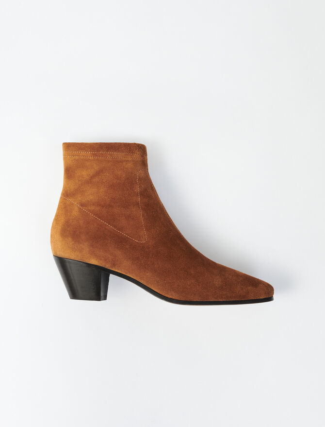 SUEDE SOCK BOOTS - Shoes & Accessories - MAJE