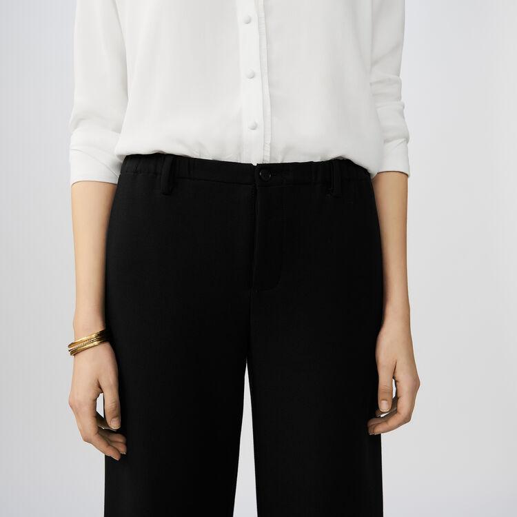 Wide-legged trousers : Pants & Jeans color Black 210