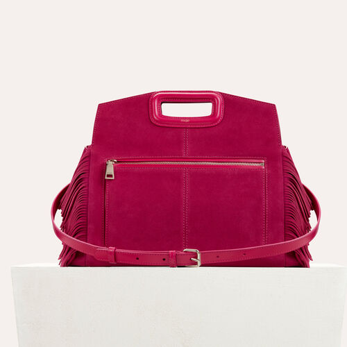 Suede shoulder bag : M Walk color Raspberry