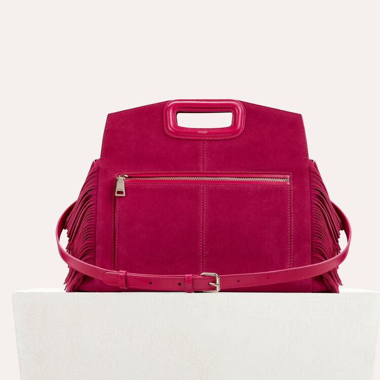 Suede shoulder bag : Shoes & Accessories color Raspberry