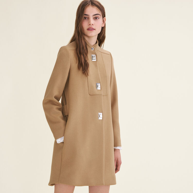 Coat with decorative fastenings : null color