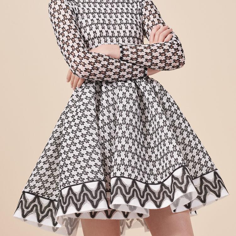 Lace skater dress : Dresses color Two-Tone