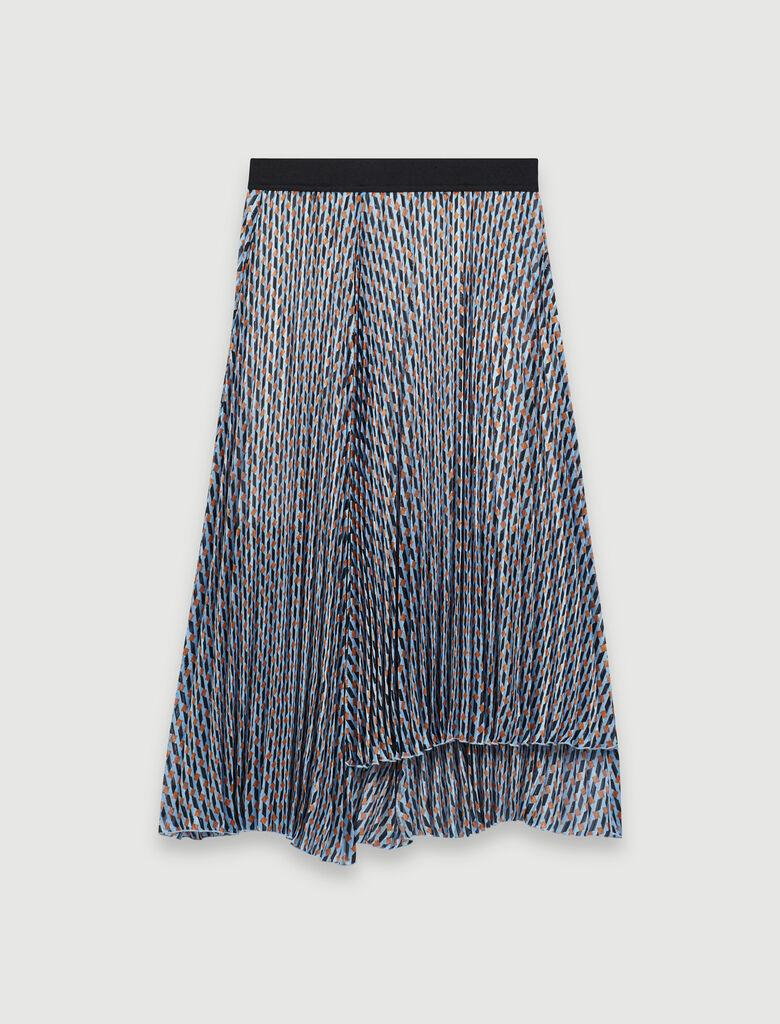 220jela Lurex Jacquard Print Skirt Skirts Shorts Maje Com