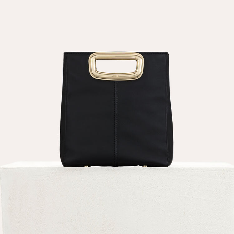 M Mini Skin bag in leather and metal : M Skin color Black 210