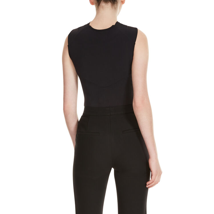 Body with crossover neckline : Tops & T-Shirts color Black 210