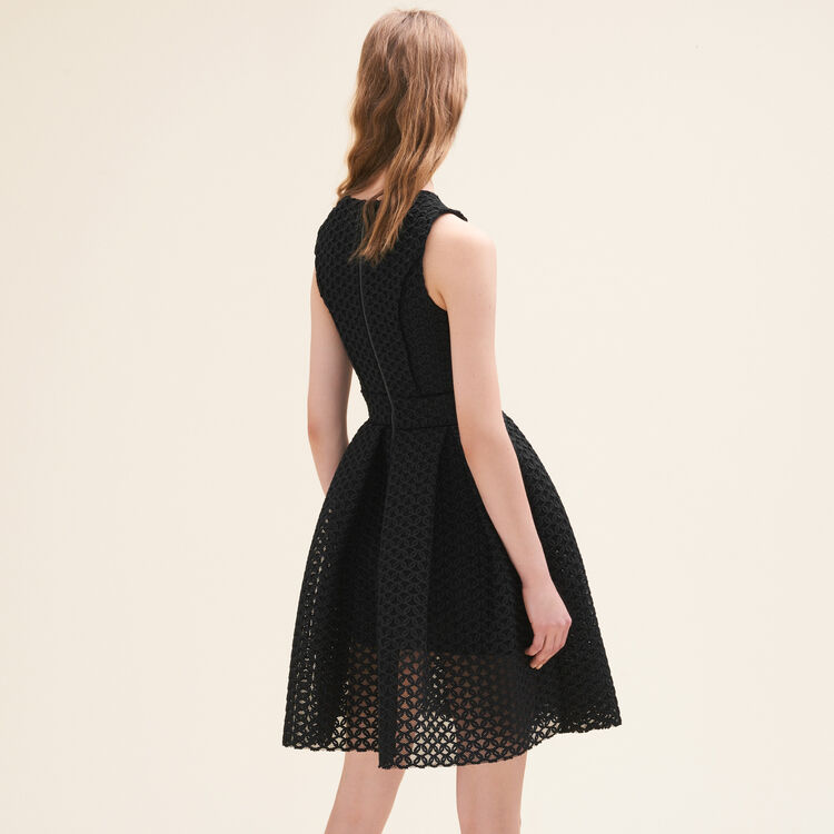 Basketweave-knit sleeveless dress : null color