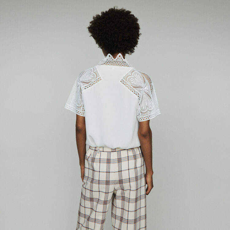 Guipure top : Tops & T-Shirts color Off White