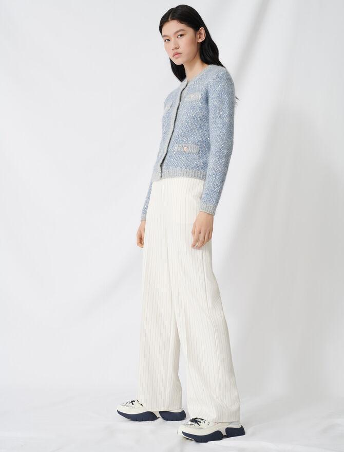 Palazzo pants with contrasting waistband - Pants & Jeans - MAJE