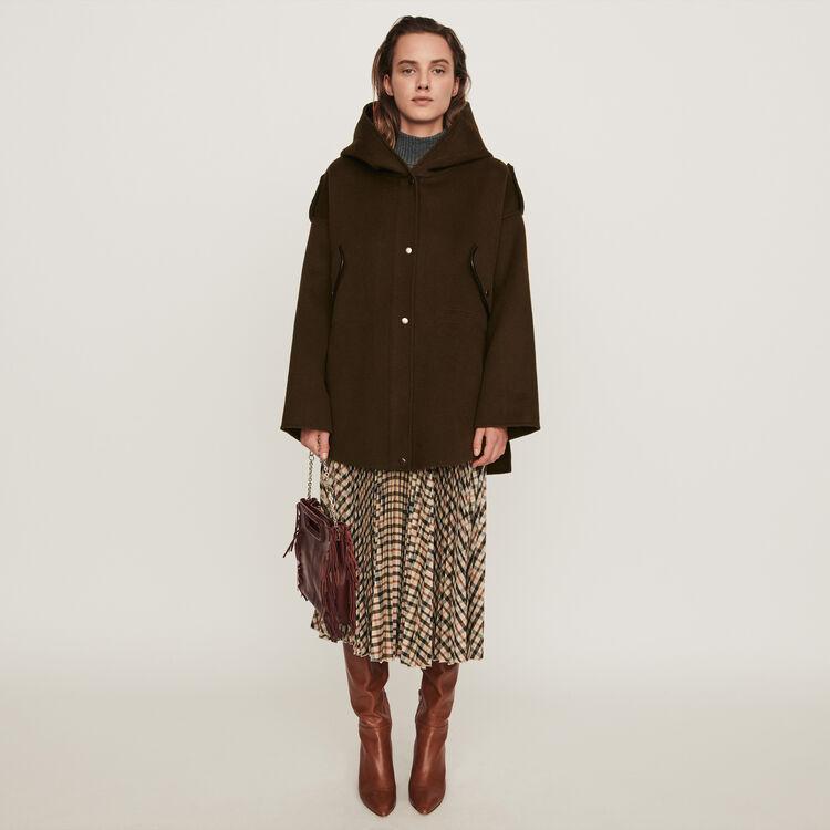 Double face cape coat : 70s belong to Women color Black