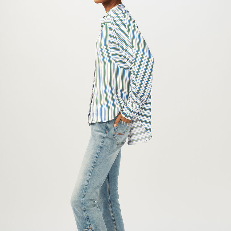 Oversized striped shirt : Tops & Shirts color Print