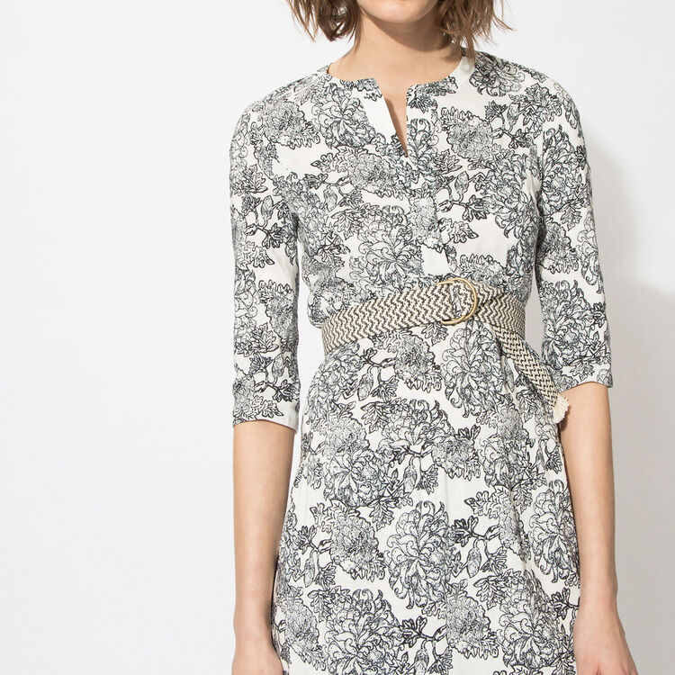 Straight floral-print dress : Copy of Sale color