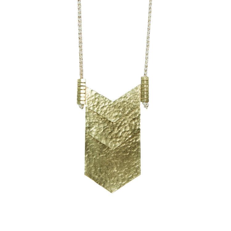 ADJUSTABLE HAMMERED GOLD LONG NECKLACE : Copy of Sale color