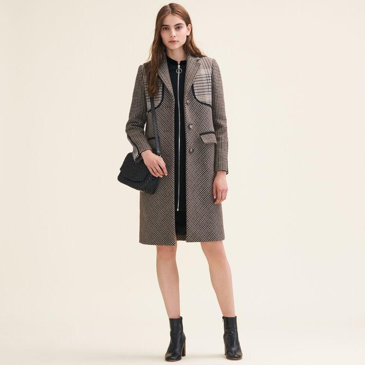 Mini satchel in two-tone suede -  - MAJE