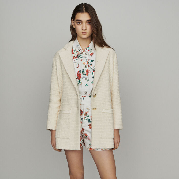 Tweed-style coat : New in: Spring Collection color Ecru