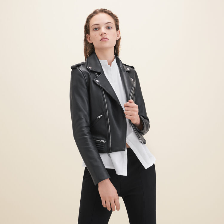 Leather jacket : null color Black 210