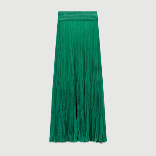 Long pleated skirt : Skirts & Shorts color GREEN