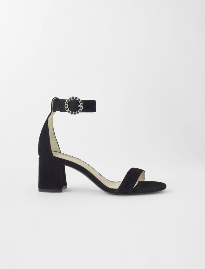 Strappy midi-heeled sandals - Shoes & Accessories - MAJE