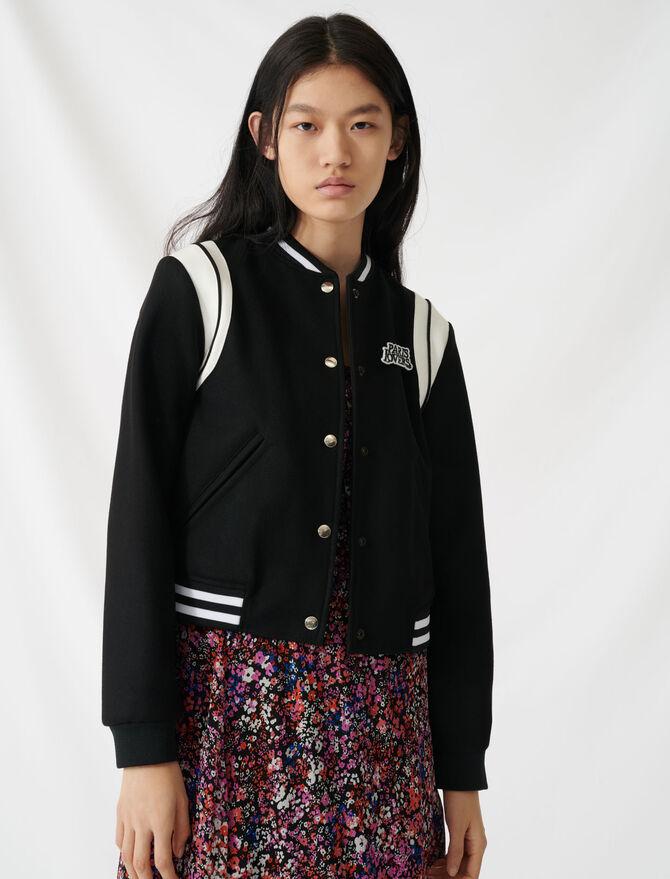 Varsity-style jacket - Coats & Jackets - MAJE